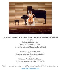 Christina Hart Performs at Home in Setauket